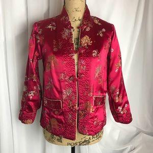 Vintage Reversible Mandarin Collar Jacket